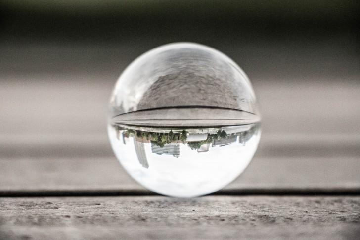 Bubble upside down